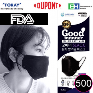 good manner black kf94 mask